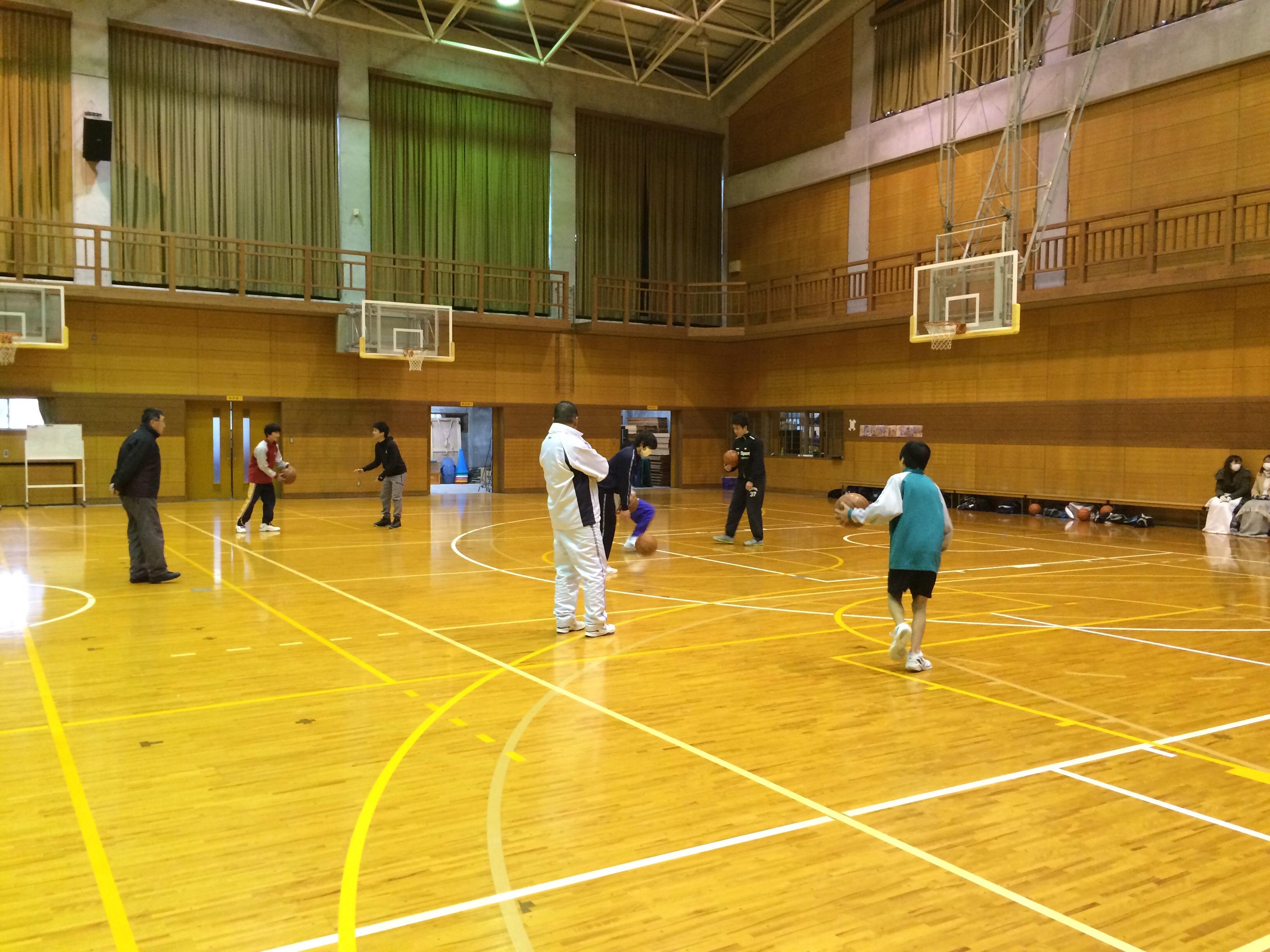 京丹波町中高バスケ交流大会とミニ南船選抜練習会