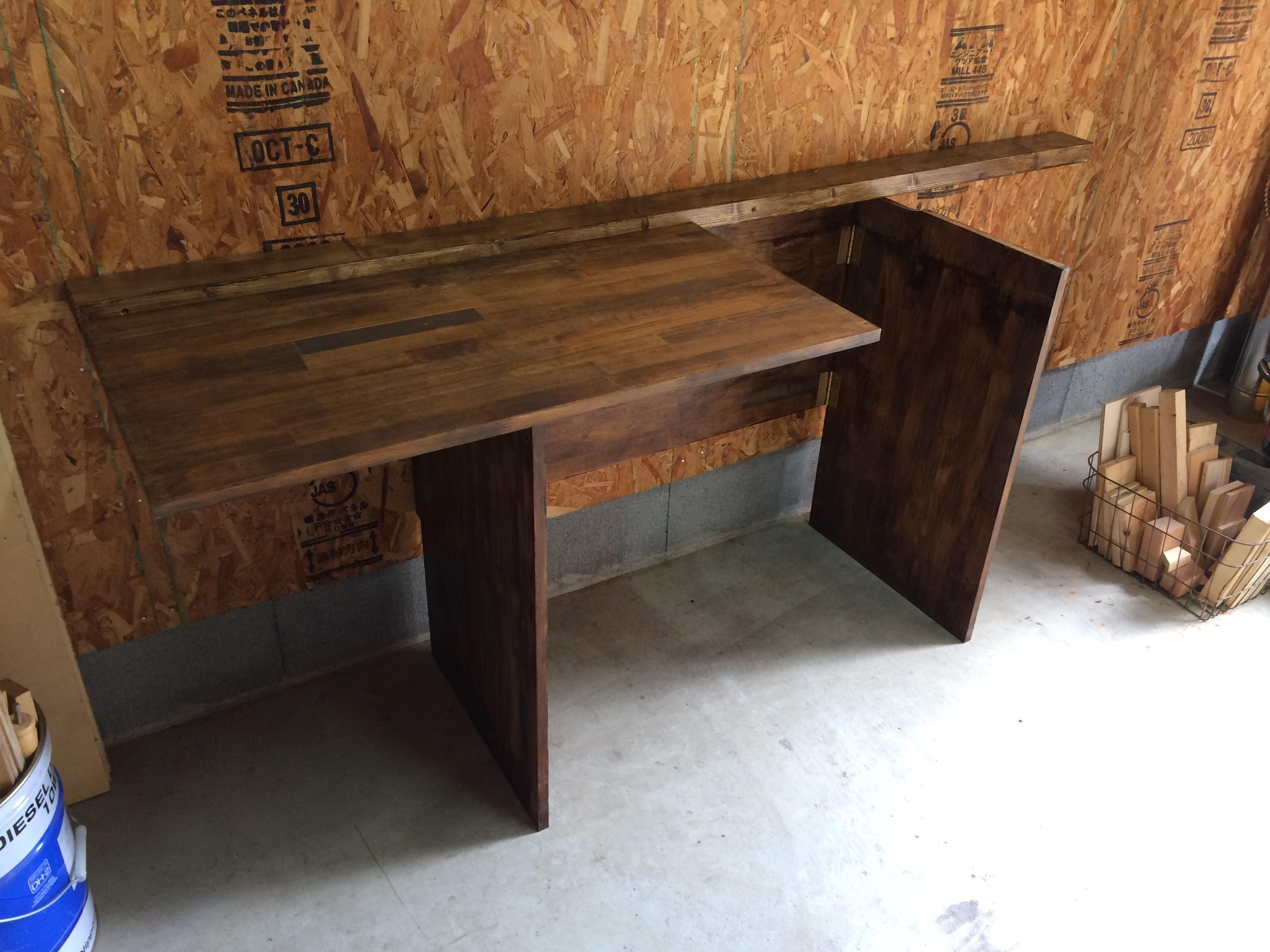 折りたたみ式テーブルDIY