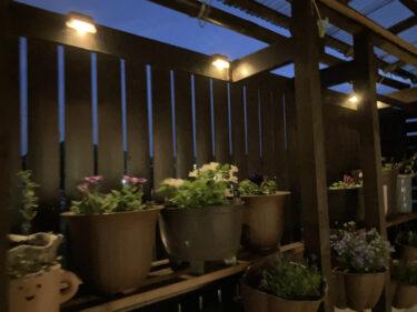 【折りたたみテーブル】と【LEDソーラーライト】でベランダガーデニングスペースをDIYしてみた